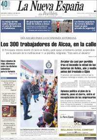Portada de La Nueva España - Avilés (Espagne)