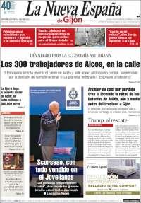 Portada de La Nueva España - Gijón (Espagne)