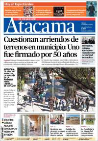 Portada de Diario de Atacama (Chile)
