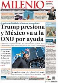 Portada de Milenio (México)