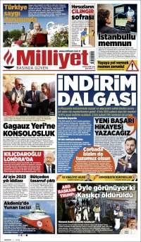 Portada de Milliyet (Turkey)