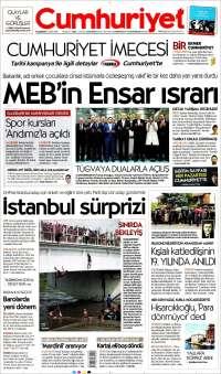 Portada de Cumhuriyet (Turquie)