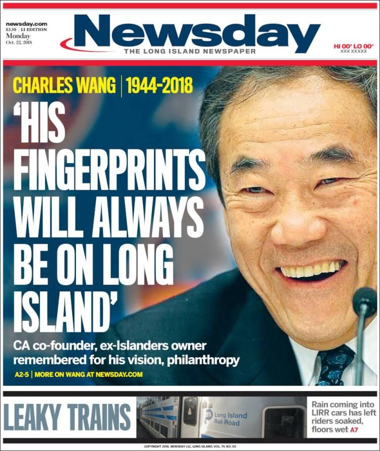 Newspaper Newsday (USA)  Newspapers in USA  Monday's edition
