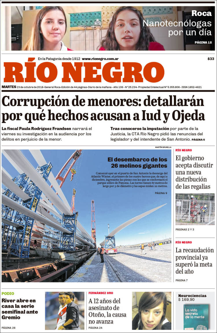 Portada de Rio Negro (Argentina)