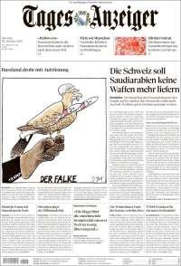 Portada de Tages-Anzeiger (Suiza)