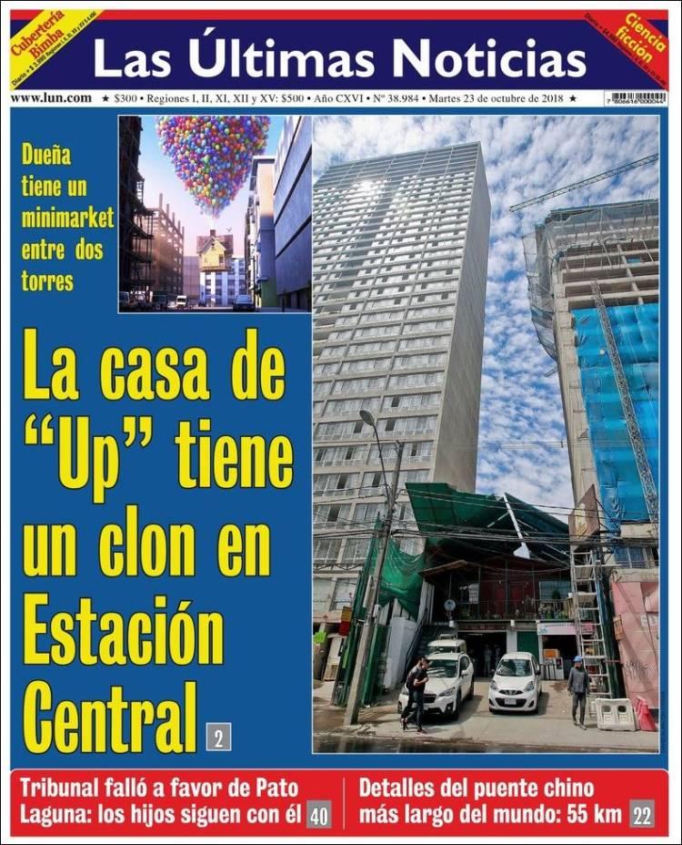 Portada de Las Últimas Noticias (Chile)