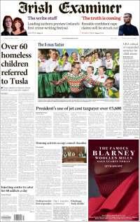 Portada de Irish Examiner (Irlanda)
