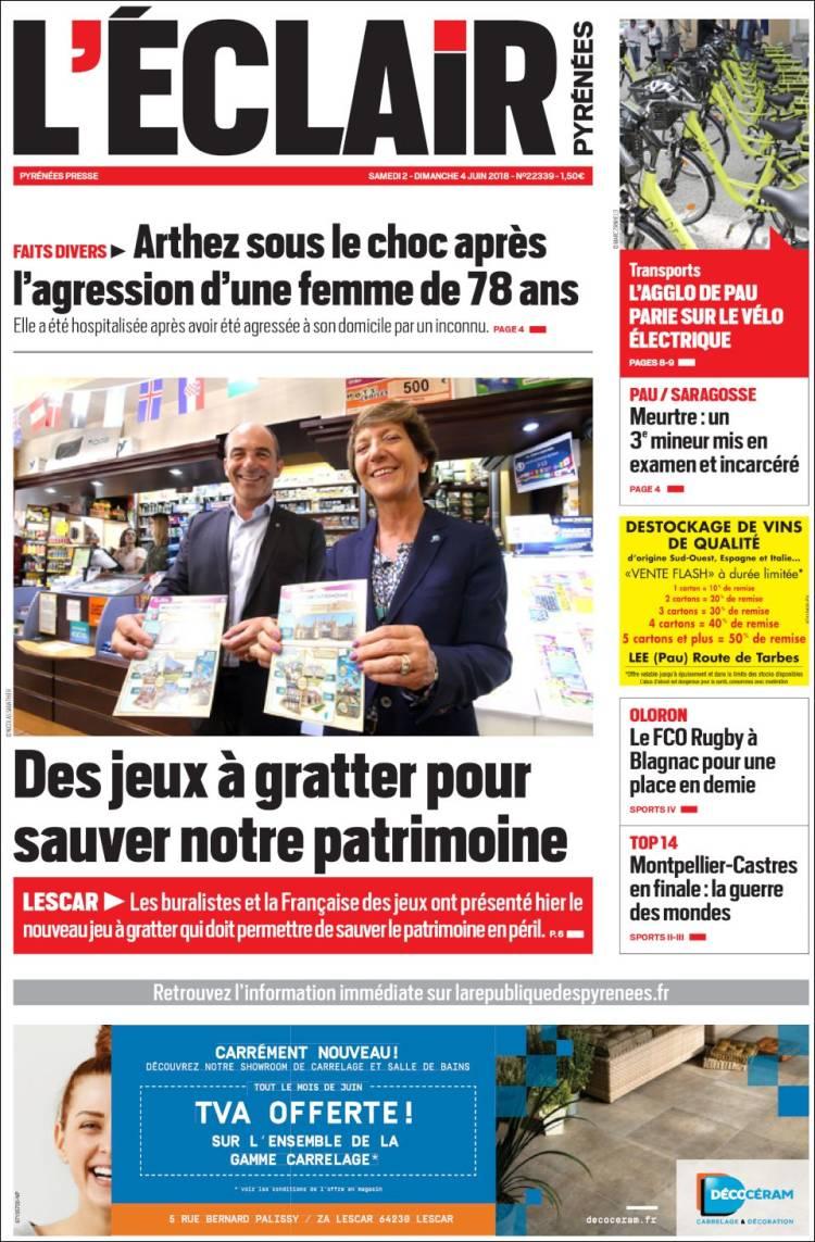Jeux De Décoration De Salle De Bain newspaper l'eclair des pyrénées (france). newspapers in