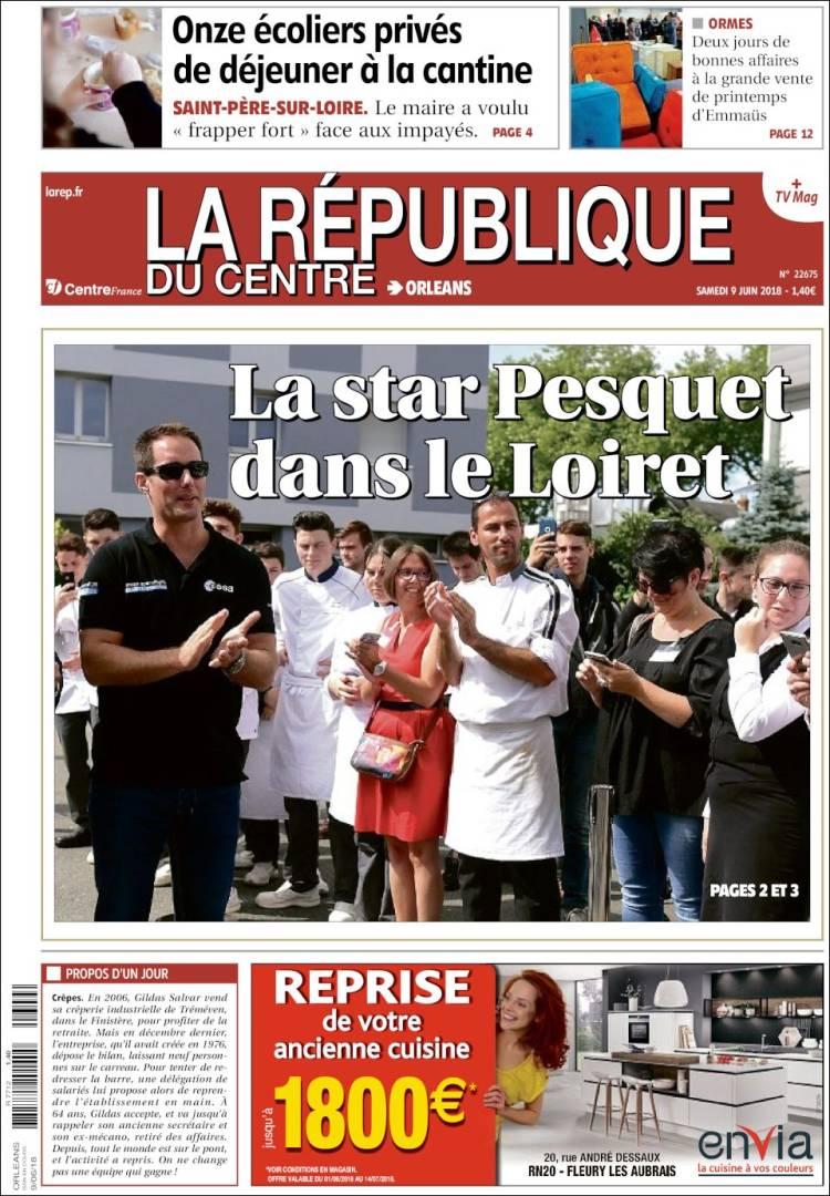 Envia Cuisine Fleury Les Aubrais periódico la république du centre (francia). periódicos de