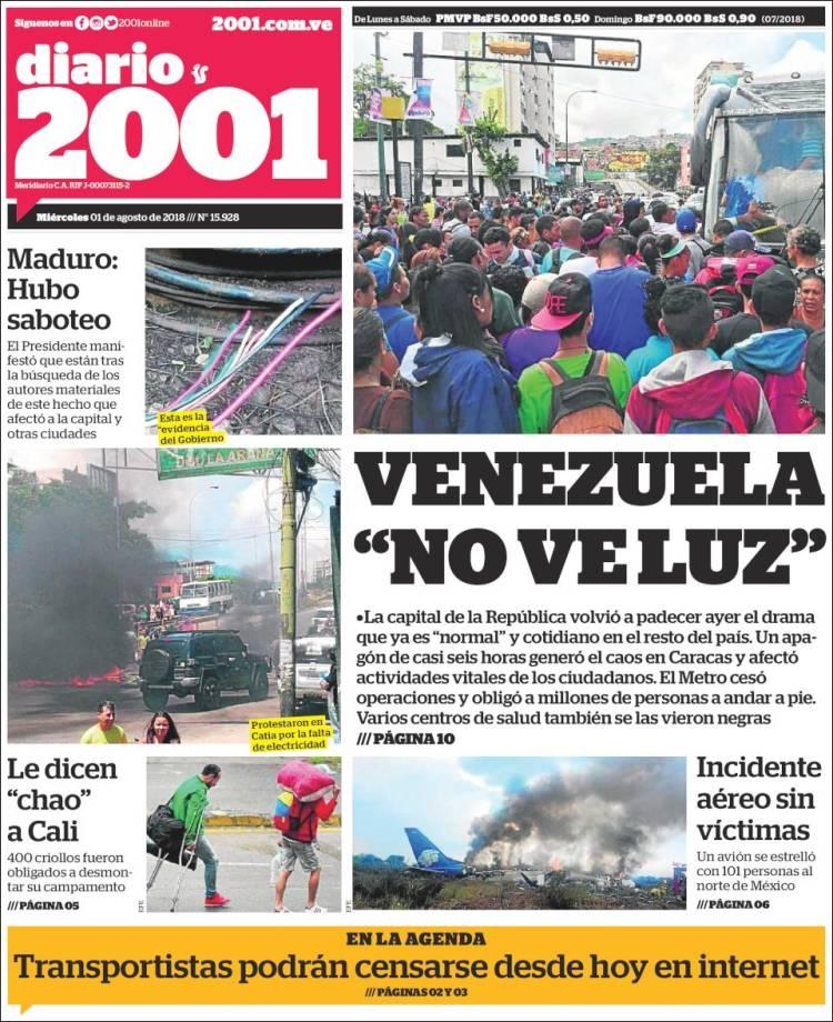 Portada de 2001 - Dosmiluno (Venezuela)